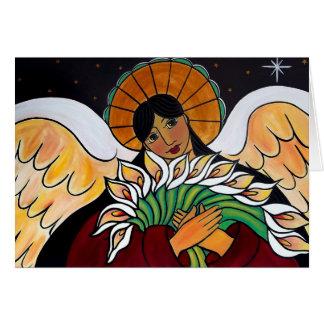 El ángel en enero Oliverio de la resurrección Tarjeta De Felicitación