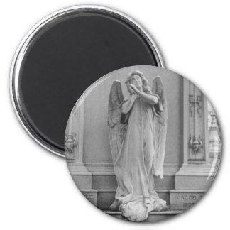 El ángel encendido Stickle el monumento Imán Redondo 5 Cm