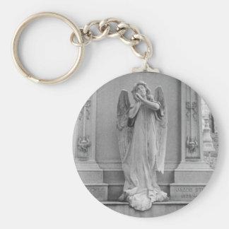 El ángel encendido Stickle el monumento Llavero Redondo Tipo Pin