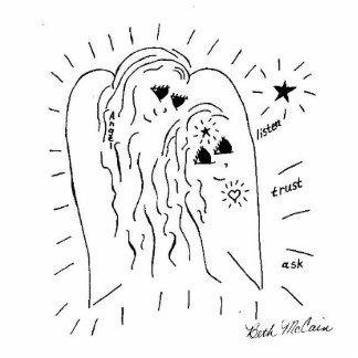 """El ángel """"escucha, confía en, pide"""" la escultura d fotoescultura vertical"""