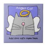 El ángel gris del gato personaliza azulejos cerámicos