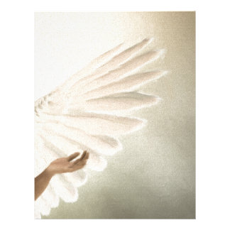 El ángel hermoso se va volando el regalo y membrete personalizado