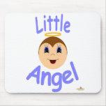 El ángel Kiddo del muchacho hace frente a poco áng Tapetes De Ratones