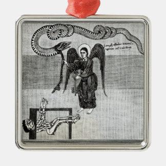 El ángel, llevando a cabo las llaves del infierno ornamento de navidad