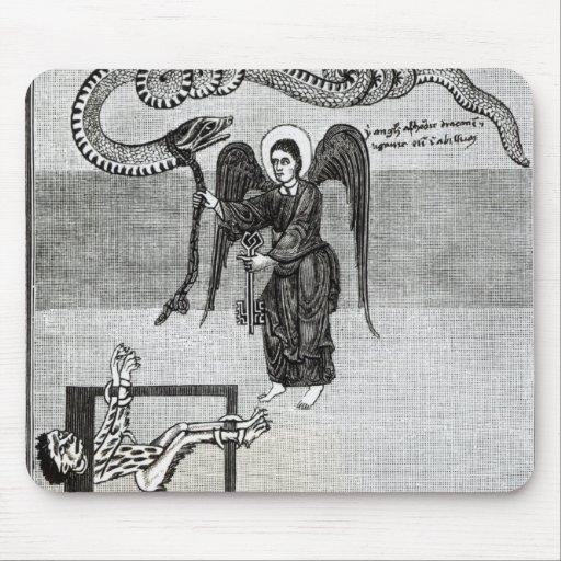 El ángel, llevando a cabo las llaves del infierno alfombrillas de ratones