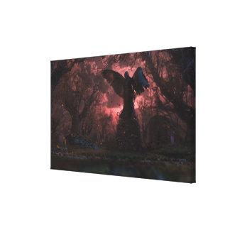 El ángel negro impresión de lienzo