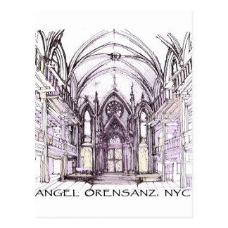 El ángel Orensanz carda dibujos Postal