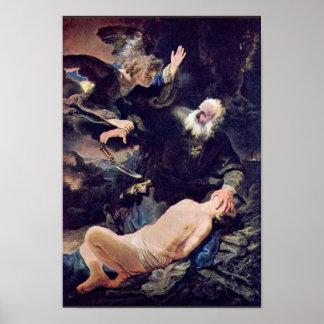 El ángel previene el sacrificio de Isaac, Poster