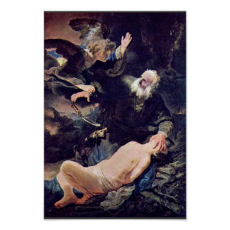 El ángel previene el sacrificio de Isaac, Póster