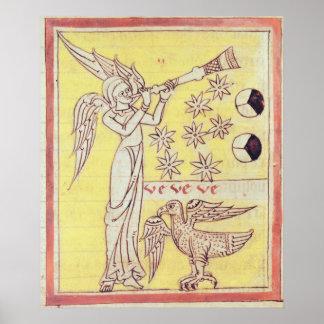 El ángel que sopla la trompeta impresiones