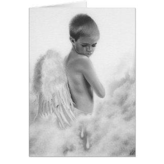 El ángel rasga la tarjeta