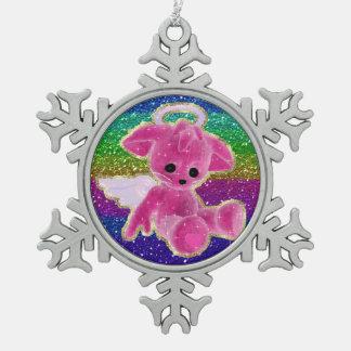 El ángel rosado refiere el ornamento del estaño de