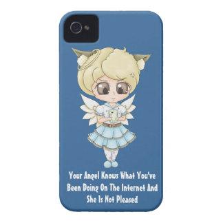 El ángel sabe lo que usted ha estado haciendo en e iPhone 4 Case-Mate carcasas