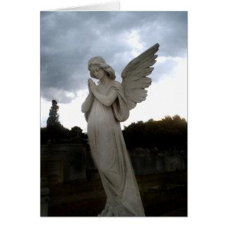 El ángel sagrado tarjeta de felicitación