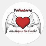 El ángel se ofrece voluntariamente a los pegatinas pegatina redonda