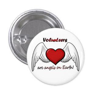 El ángel se ofrece voluntariamente el botón pin redondo de 1 pulgada