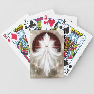 El ángel se va volando arte del fractal del copo baraja de cartas bicycle