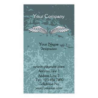 El ángel se va volando el azul fangoso tarjetas de visita