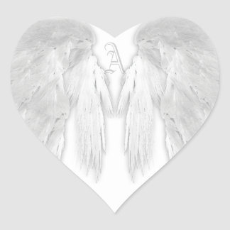 El ÁNGEL SE VA VOLANDO el monograma de encargo Pegatina En Forma De Corazón