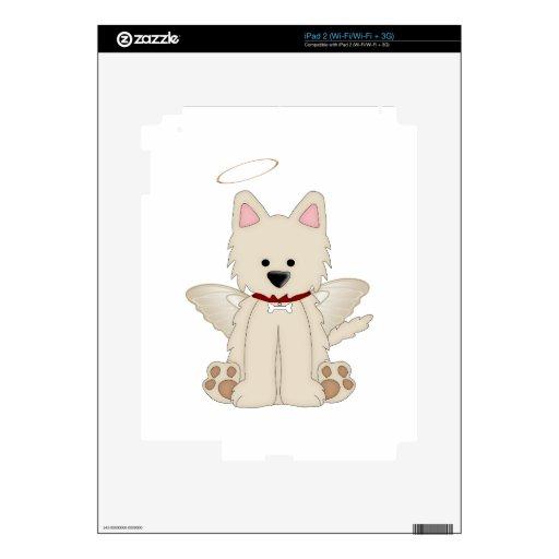 El ángel se va volando el perro de perrito del hal skins para iPad 2