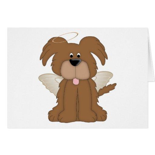 El ángel se va volando el perro de perrito del hal felicitaciones