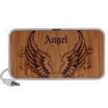El ángel se va volando personalizado portátil altavoces