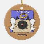 El ángel siamés del gato del recuerdo personaliza ornatos