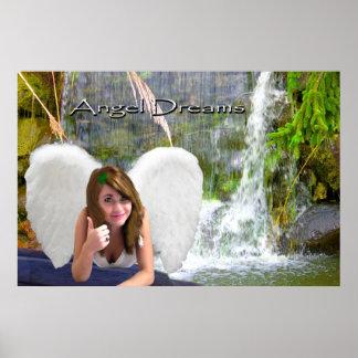 el ángel soña los pulgares-para arriba hermosos de impresiones