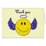 El ángel sonriente de la cara del BA le agradece Tarjetón