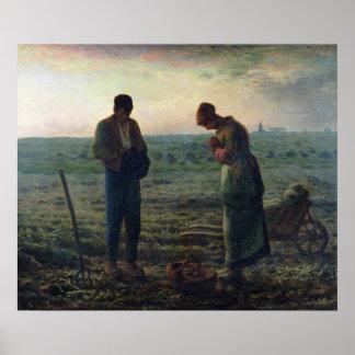 El ángelus, 1857-59 póster