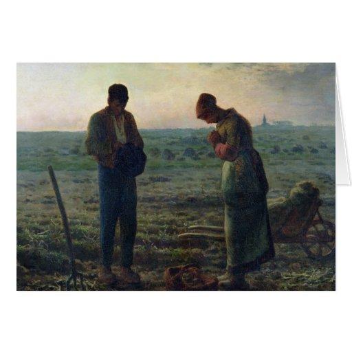 El ángelus, 1857-59 tarjeta