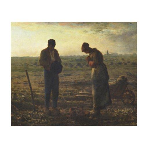 El ángelus por el mijo de Jean-François Impresion En Lona