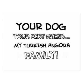 El angora turco es diseños de la familia tarjetas postales