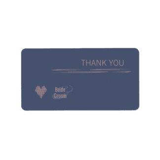 El añil azul le agradece pegatina del regalo etiquetas de dirección