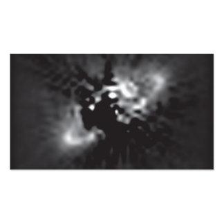 El anillo del polvo alrededor de la estrella hora tarjetas de visita