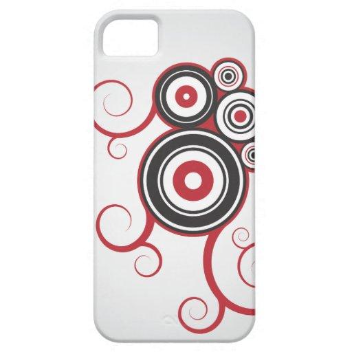 El anillo gris/rojo remolina el caso iPhone5 Funda Para iPhone SE/5/5s