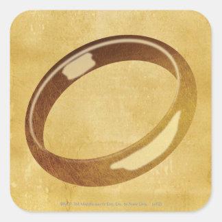 El anillo pegatina cuadrada