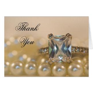 El anillo y las perlas de la princesa diamante le tarjeta pequeña