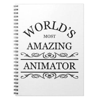El animador más asombroso del mundo libro de apuntes con espiral