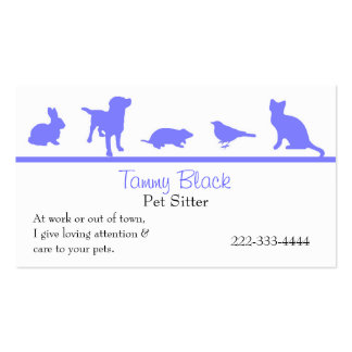 El animal azul siluetea la tarjeta de visita del c