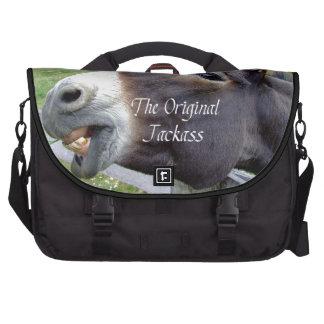 El animal del campo divertido de la mula del burro bolsas para portátil