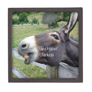 El animal del campo divertido de la mula del burro caja de regalo de calidad