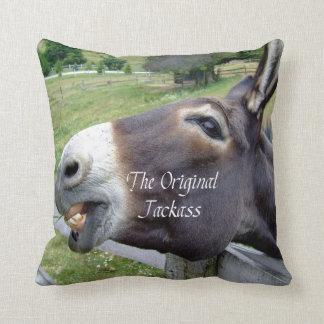 El animal del campo divertido de la mula del burro almohadas