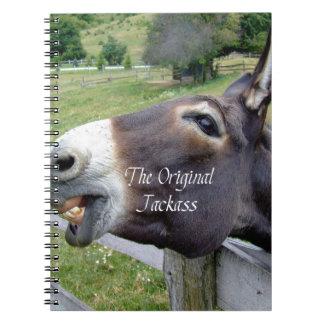 El animal del campo divertido de la mula del burro libretas