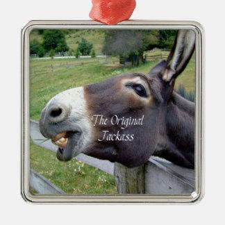 El animal del campo divertido de la mula del burro ornato