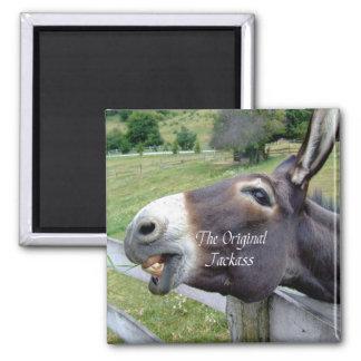El animal del campo divertido de la mula del burro iman de nevera
