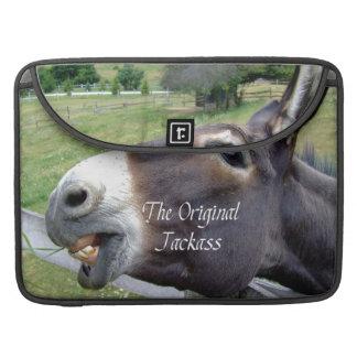 El animal del campo divertido de la mula del burro fundas macbook pro
