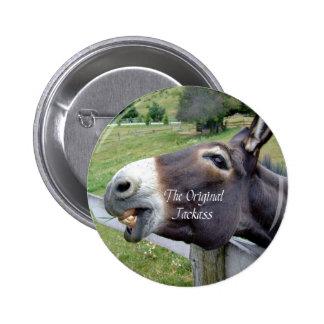 El animal del campo divertido de la mula del burro pin