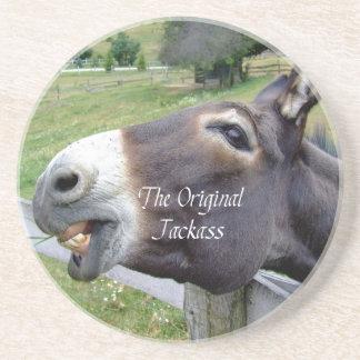 El animal del campo divertido de la mula del burro posavaso para bebida