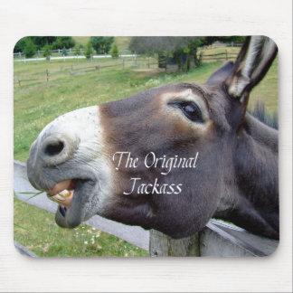 El animal del campo divertido de la mula del burro alfombrillas de raton